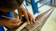 A student at a vocational training center in Namibia. © John Hogg/World Bank