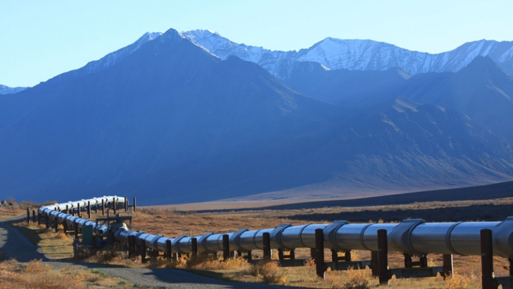 Oil Pipeline on the North Slope of Alaska © Jonathan Nafzger/Shutterstock